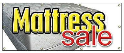 "36""x96"" MATTRESS SALE BANNER SIGN store signs bed bedding"