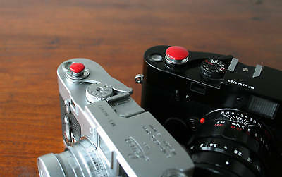 Red Standard 15mm Soft Release Button for Leica M2 M3 M4 M6 MP M8 M9 Nikon Canon