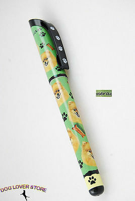 Pomeranian Dog Pen Replaceable Ballpoint Black Ink