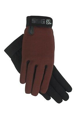 BROWN SSG All Weather Riding Gloves Ladies Men's  M L