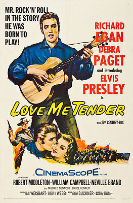 Elvis Presley  in * Love Me Tender * USA Movie Poster Release Circa 1956