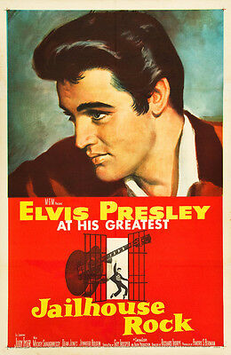 Elvis Presley  in * Jail House Rock * USA Movie Poster Release Circa 1957