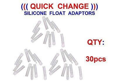 30 Silicone Float Adaptors For Coarse Match Rod Fishing Wagglers Waggler Floats