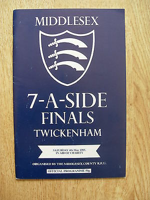 Middlesex Sevens 1985 Rugby Programme
