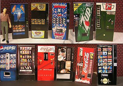 Complete Set Of all our Vending Machines 1:43 (O) Scale miniature!