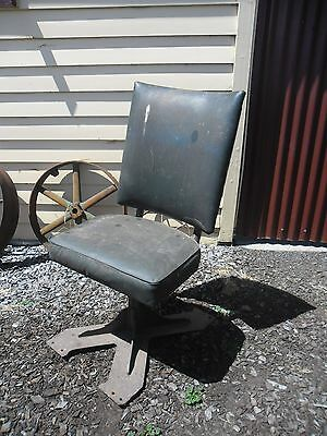 Old Railways train carriage ZF Class industrial seat chair LAYBY AVAILABLE!