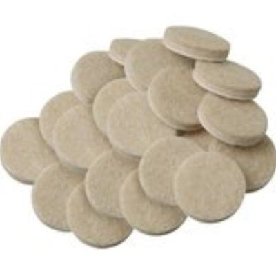 25 x 15mm Furniture Felt Pads Floor Wood Laminate Proctector