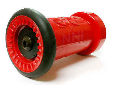 "1-1/2"" Nst/nh Fire Hose Nozzle -75Gpm  Red Polycarbonate"