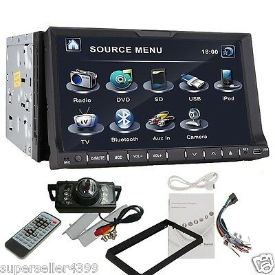 "HOT Selling 2 Din 7"" In Dash LCD Car DVD CD Player TV AUX Ipod Bluetooth+Camera"