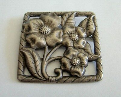 Large Sterling Silver Beautiful Flower Brooch Pin 22.8Grams