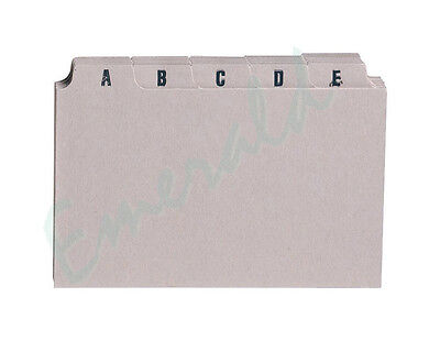 """A-Z Index Record Guide Cards Size 5"""" x 3"""" 127 x 76 Same Day Dispatch"""