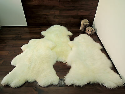 Soft 100% Genuine Natural Sheepskin Rug - Pet Bed - Dog - Cat - Silky Warm Wool