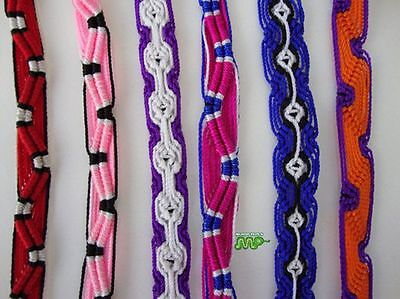 Friendship Bracelet Hand Woven Peru Folk Art Craft Nice Lot 6 Lighter Colors