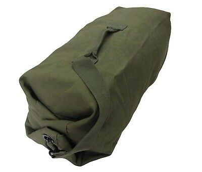 Green Military Duffel Bag - Shoulder Sack Stuff Army Cadet Military Cotton New