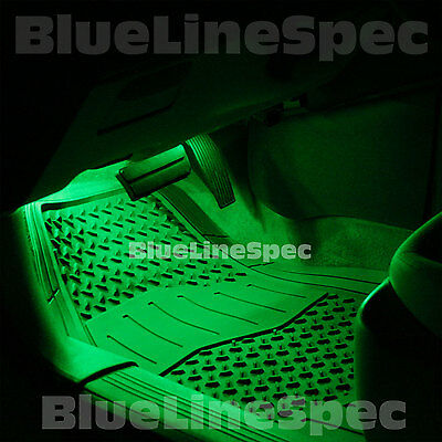 HyperGlow 4-Pack Green LED Lights Interior Lighting Footwell Dash Seat Vent Neon