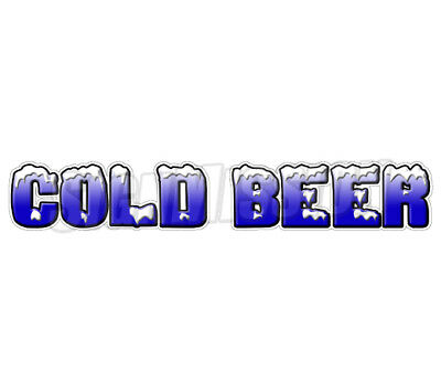 COLD BEER Concession Decal ice drink vendor signs cart trailer stand sticker