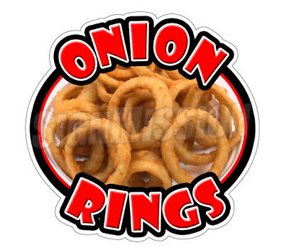 ONION RINGS Concession Decal sign fried ring cart trailer stand sticker deep