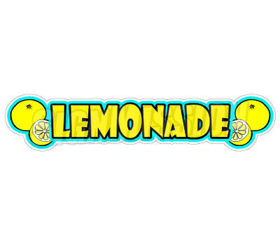 LEMONADE Concession Decal drink drinks sign cart trailer stand sticker