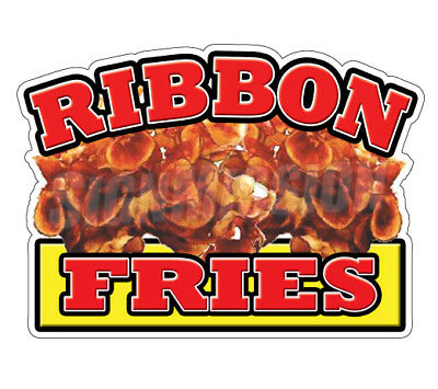 """RIBBON FRIES Concession 12"""" Decal  sign french cart trailer stand sticker"""