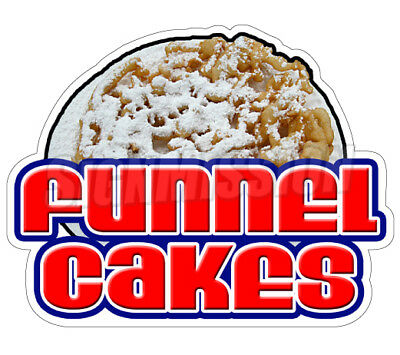 """FUNNEL CAKES Concession 12"""" Decal  sign cake signs cart trailer stand sticker"""