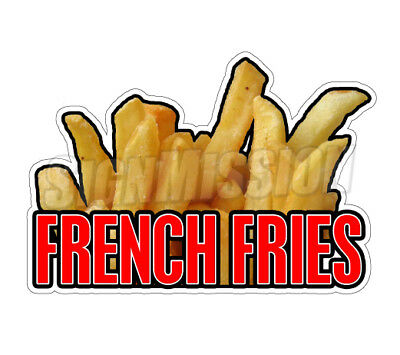 FRENCH FRIES I Concession Decal sign fry oil cart trailer stand sticker