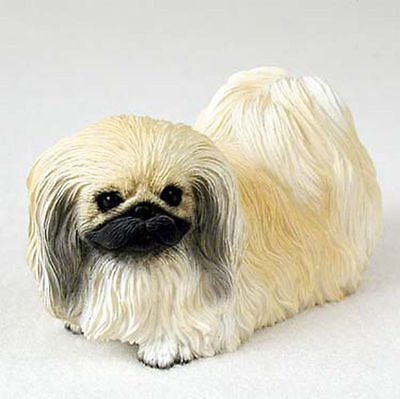 Pekingese Hand Painted Collectible Dog Figurine Statue