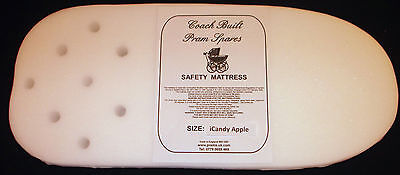 PRAM SAFETY MATTRESS - iCandy Apple Carry Cot - Removable Mesh Cover