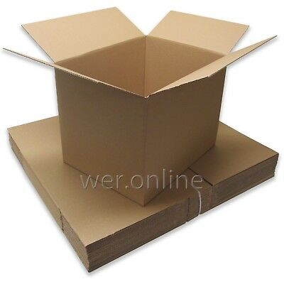 "5 x Postal Packing Home Removal Storage Container Cardboard Boxes 18x14x14"" SW"