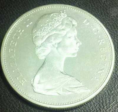1965 Canada Silver Dollar SUPERB GEM BU + Cameo Proof-like Small Beads Pointed 5