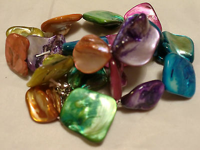 20 40 60 80 100 200pcs Mother Of Pearl Nugget Shell Beads 15 - 20mm Free UK P/P