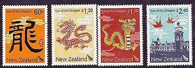 New Zealand Year of the Dragon set of 4 mint NH