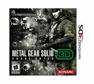 NEW Metal Gear Solid Snake Eater 3D  (Nintendo 3DS, 2011)