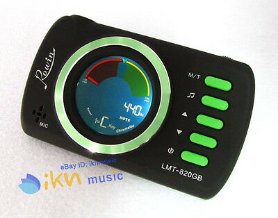 Guitar/Bass Chromatic 3in1 Tuner Metronome Colorful LCD Display by Rowin
