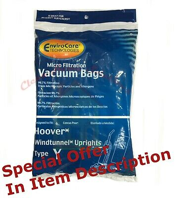 1 HOOVER WIND TUNNEL TYPE Y WINDTUNNEL VACUUM BAGS 3 PACK ( Buy 2 get one Free)