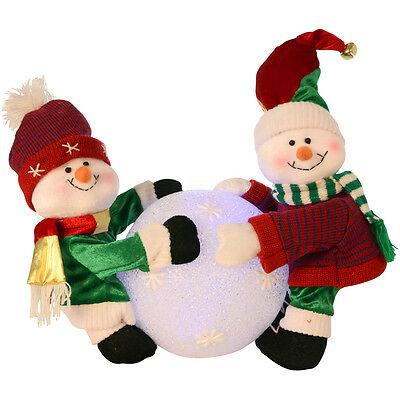 Light Up Colour Changing Snowball With Snowmen Festive Christmas Decoration