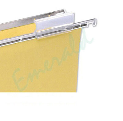 Suspension File Clear Plastic Filing Tabs & Inserts Fits A4 & Foolscap 50 or 100