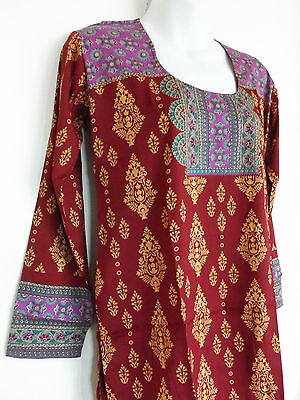 Printed Crepe Tunic Indian Kurti Kurta Top  Ethnic Blouse For Women Clearance !