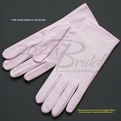 Fancy Nylon Formal Women's Gloves - Various Sizes and Colors