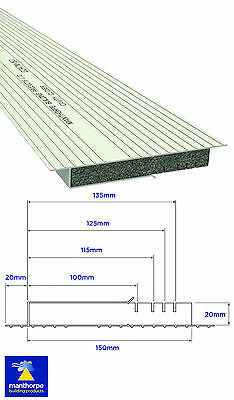 Manthorpe Multi-Width 100mm - 150mm Insulated Cavity Closer 2.4m x 6 Lengths