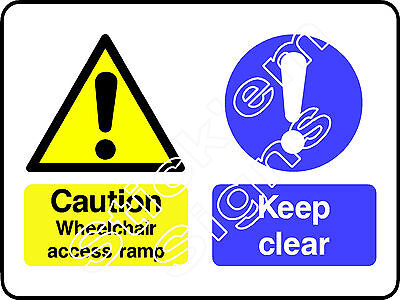 Caution Wheelchair access ramp DDA0014 Disabled stickers & signs