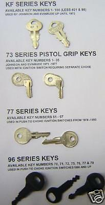Replacement Outboard Ignition Spare Boat Starter Key All Years Johnson OMC BRP
