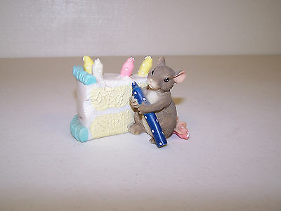 Fitz & Floyd Charming Tails How Many Candles Dean Griff Artist Signed No Box