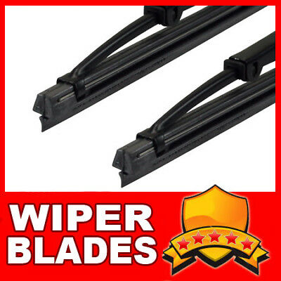 """22"""" 16"""" FRONT Windscreen Wiper Blades - Retro Hook Style Fitment - Metal Frame R"""