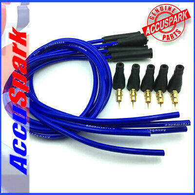 AccuSpark 8mm performance Silicone HT leads in Blue 4 cyl cars