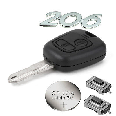 fits Peugeot 2 BUTTON 206 206cc Remote Control Key FOB Repair Fix kit