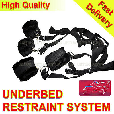 Quality Under Bed Restraint System Underbed  with Fur Cuffs -Not an eBay fake!!!