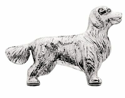 Golden Retriever Silver Charm Magnet
