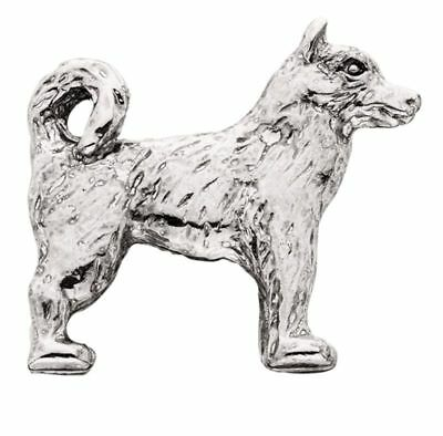 Husky Silver Charm Magnet