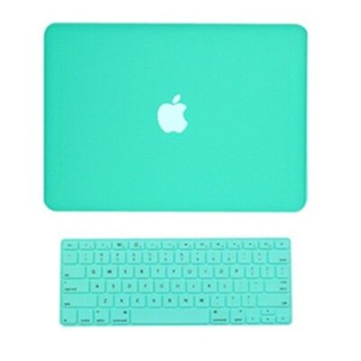 2 in1 Rubberized TIFANY BLUE Case for Macbook White A1342 with Keyboard Cover