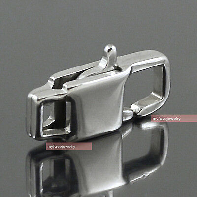 LOT 5 16x6mm 316L Stainless Steel Lobster Clasp for Bracelet, Key Chain Necklace